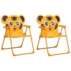 shumee Detské záhradné stoličky 2 ks žlté látkové