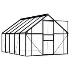 shumee Szklarnia, antracytowa, aluminium, 5,89 m²