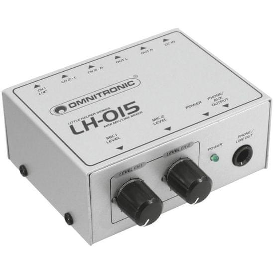 Omnitronic LH-015, mini mixážní pult 2-kanálový