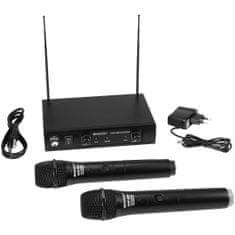 Omnitronic VHF-102, 2-kanálový bezdrátový mikrofonní set 209.80/205.75 MHz