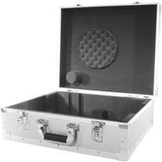 Roadinger Gramo Case S, přepravní gramofonní kufr stříbrný