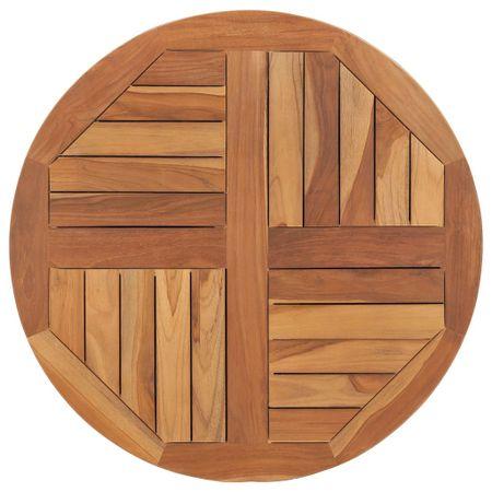 Blat stołu, lite drewno tekowe, okrągły, 2,5 cm, 70 cm