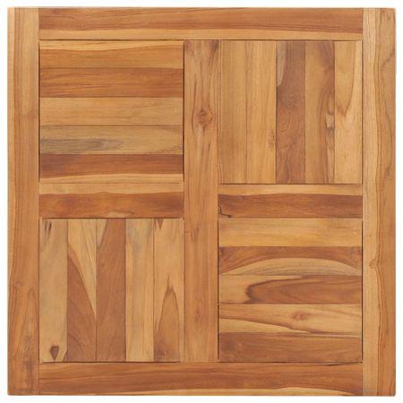 Blat stołu, lite drewno tekowe, 70x70x2,5 cm