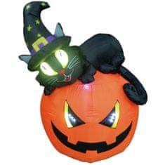 Europalms Halloween nafukovací dýně s kočkou, 150cm