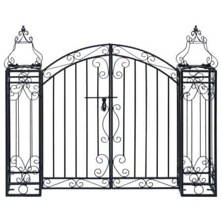 Ozdobna brama ogrodowa z kutego żelaza, 122 x 20,5 x 100 cm