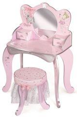 DeCuevas 55534 Drewniana toaletka z lustrem, drewniane krzesło i akcesoria Magic Maria