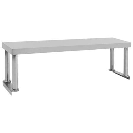 shumee Polica za delovno mizo 120x30x35 cm nerjaveče jeklo