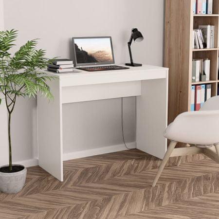 shumee fehér forgácslap íróasztal 90 x 40 x 72 cm