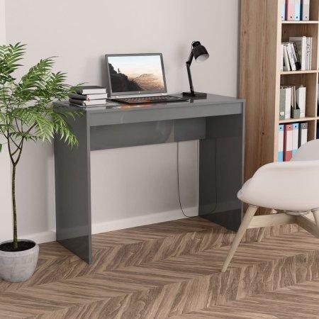 shumee magasfényű szürke forgácslap íróasztal 90 x 40 x 72 cm
