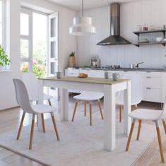 Vidaxl Jídelní stůl bílý a dub sonoma 120 x 60 x 76 cm dřevotříska