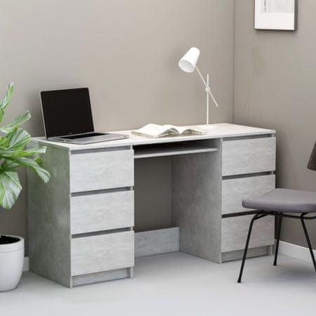 shumee betonszürke forgácslap íróasztal 140 x 50 x 77 cm