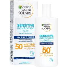 Garnier Ambre Solaire UV fluid za zaščito obraza pred soncem SPF50+, 40 ml