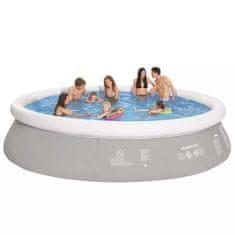 Jilong Kulatý nafukovací bazén šedý 450 x 122 cm