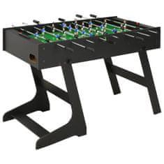 Składany stół do piłkarzyków, 121 x 61 x 80 cm, czarny