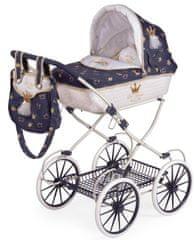 DeCuevas 81032 Składany wózek dla lalki z torbą i dodatkami Classic Gold