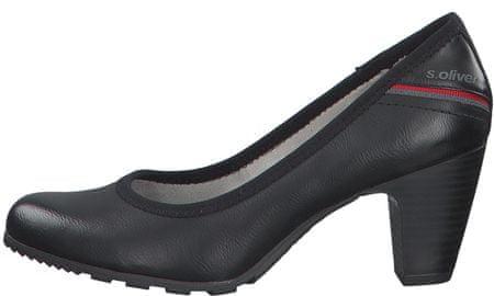s.Oliver ženski čevlji s peto 22404, 38, črni