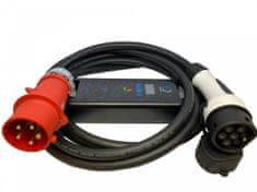 EV Expert Chytrá přenosná nabíječka TYP 2 - CEE 5 kolík   16A   3fáze   11kW  RCD-B  5 m