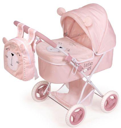 DeCuevas 85039 Összecsukható babakocsi játékbabáknak Little Pet táskával