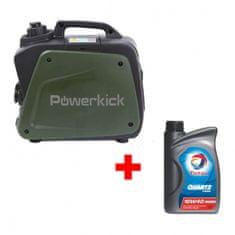 Powerkick Elektrocentrála Powerkick Generator 800 + Olej Total 10W-40 1l ZDARMA !!