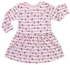 Jacky dívčí šaty s dlouhým rukávem PANDA LOVE