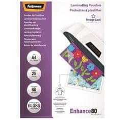 Fellowes Laminovací fólie, lesklá, 80 micron, A4, 25ks