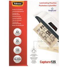 Fellowes Laminovací fólie, lesklá, 125 micron, A3, 25ks