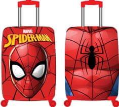 """Eplusm Dětský cestovní kufr ABS na kolečkách """"Spider-man""""- červená"""