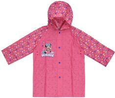 Eplusm Divčí pláštěnka Minnie mouse - růžová