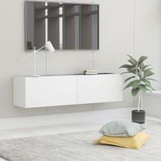 Vidaxl TV stolek bílý 120 x 30 x 30 cm dřevotříska