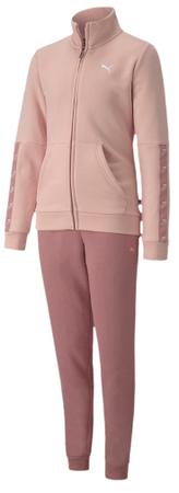 Puma zestaw dresowy dziewczęcy Sweat Suit G 104 różowy