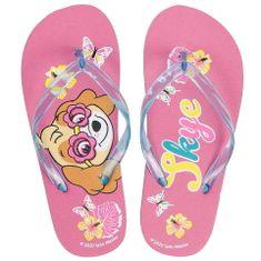 Eplusm Flip-Flops dívčí žabky Tlapková Patrola - růžová