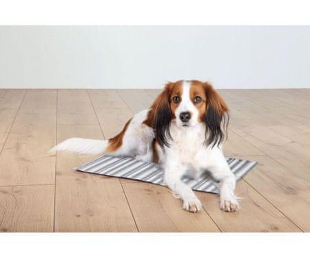 Trixie Hűtés pad állatok, csíkos 50 x 40cm fehér / szürke