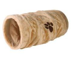 Trixie Plyšový tunel pro kočky 22/60cm, - béžový, pelíšky