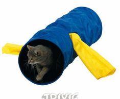 Trixie Nylonový tunel pro kočky 30x115cm, pelíšky, polštáře