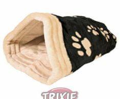 Trixie Plyšový pytlík jasira 45x25x27cm - černo/béžový, pelíšky