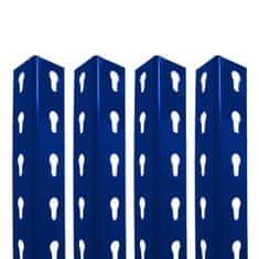 Majster Regál Extra stojiny pro bezšroubové celokovové regály profilu L 2000x40x40mm modré barvy, 4 kusy