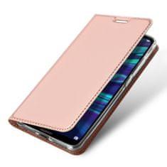 Dux Ducis Skin Pro knížkové kožené pouzdro pro Samsung Galaxy A10, růžové