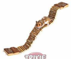 Trixie Visutý dřevěný most 7x55cm trixie, kolotoče, žebříky