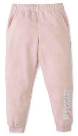 Puma Animals Sweatpants dekliške hlače trenirke, roza, 128