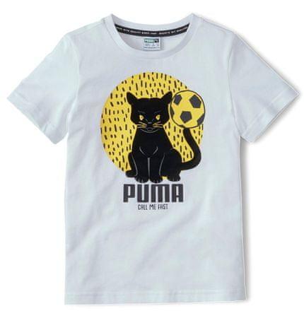 Puma Animals Suede Tee dječja majica, bijela, 116