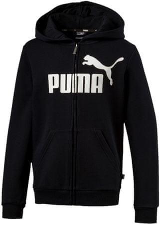 Puma ESS Logo Hooded Jacket FL B fantovska jopa, črna, 98