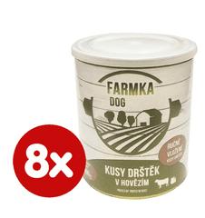 FALCO FAMRKA DOG s dršťkami 8x800 g