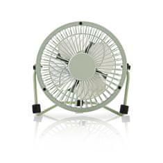 Nedis Mini ventilátor, průměr 10 cm, výkon 3 W, napájení přes USB, kabel 1 m, zelený FNDK1GR10