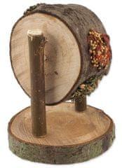 NATURE LAND Pochúťka Nibble kolo drevené plnené mrkvou, petržlenom a prosom 2x200 g