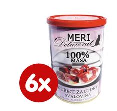 FALCO karma dla kotów MAX deluxe, żołądki kurczaka, 6 x 400 g