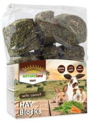 NATURE LAND Hay seno s korenjem za glodavce, 4x 600 g
