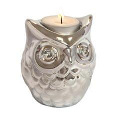 Invotis Stojánek na čajovou svíčku Owl