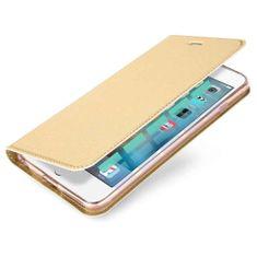Dux Ducis Skin Pro knižkové kožené puzdro na iPhone 6/6s Plus, zlaté