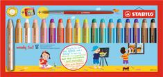 """Stabilo Multifunkční pastelky """"Woody 3 v 1"""", sada 18 barev"""