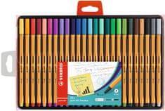 """Stabilo Linery """"Point 88"""", 25 různých barev, sada, 0,4 mm"""